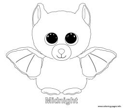 Midnight Smitten Beanie Boo Coloring Pages to Print 0waz