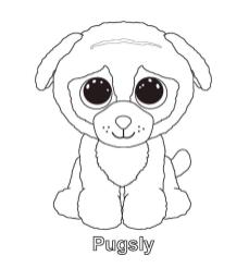 Pugsly Ty Beanie Boo Coloring Pages Online 1irk