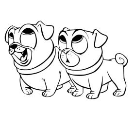 Puppy Dog Pals Coloring Pages Online 4iuy