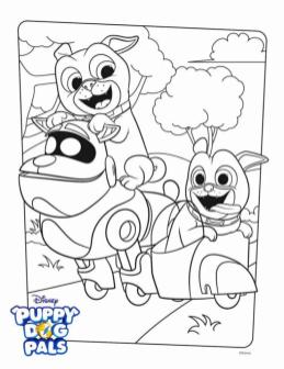 Puppy Dog Pals Coloring Pages lop1