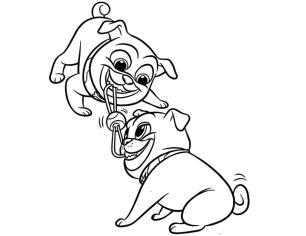 Puppy Dog Pals Coloring Pages njk4