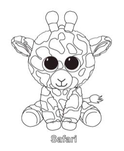 Safari Beanie Boo Coloring Pages dsz4
