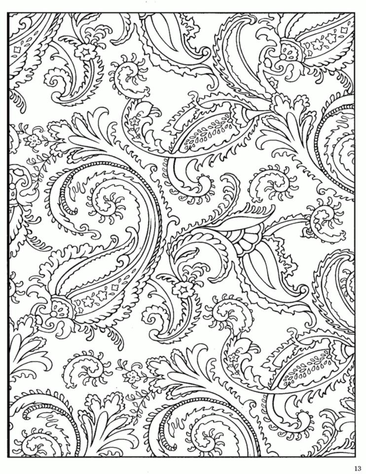 Adult Coloring Pages Paisley Free 2psd