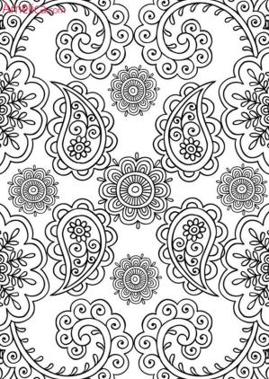 Adult Coloring Pages Paisley to Print 1rsw