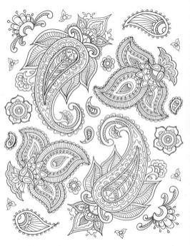 Adult Coloring Pages Paisley to Print 2bld