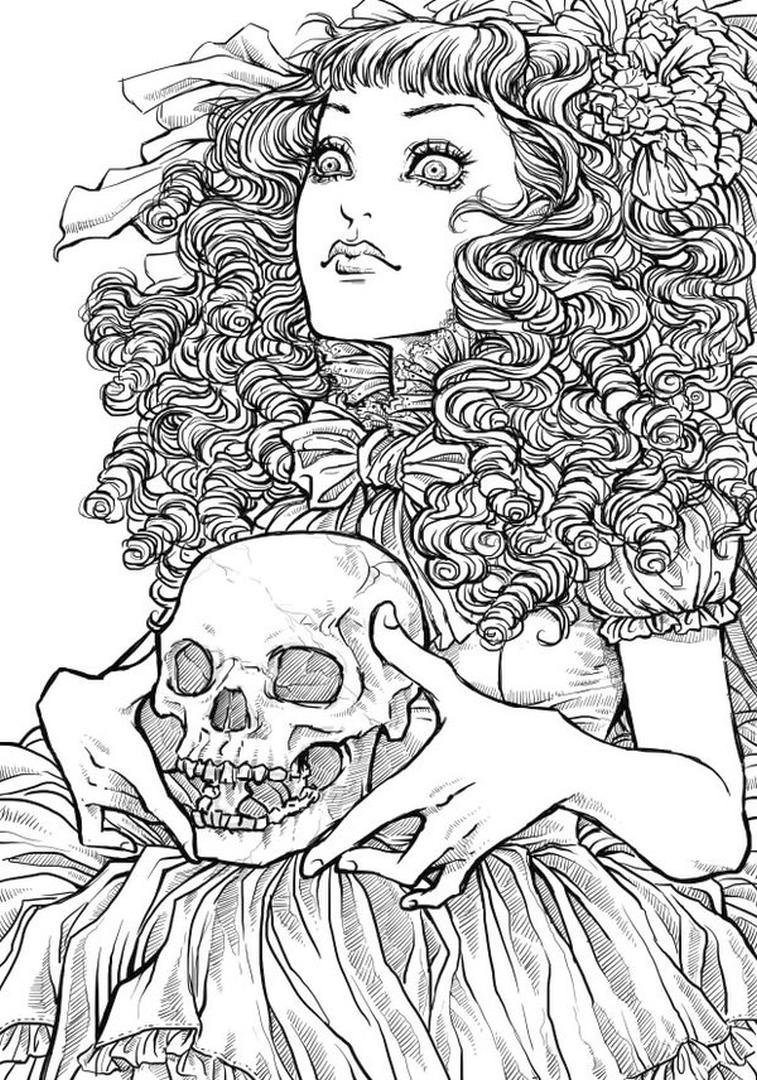 Adult Halloween Coloring Pages Black Magic 9blm