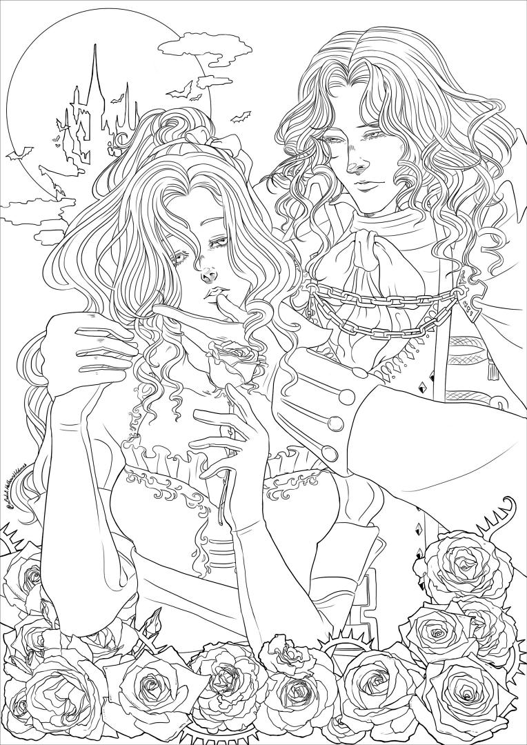 Adult Halloween Coloring Pages Castlevania 6cst