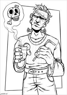 Adult Halloween Coloring Pages Frankenstein 1frk