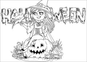 Adult Halloween Coloring Pages Happy Witch 8hpw