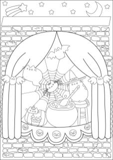 Adult Halloween Coloring Pages Pusheen Witch 0pwc