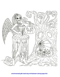 Adult Halloween Coloring Pages Scary Witch 0scw
