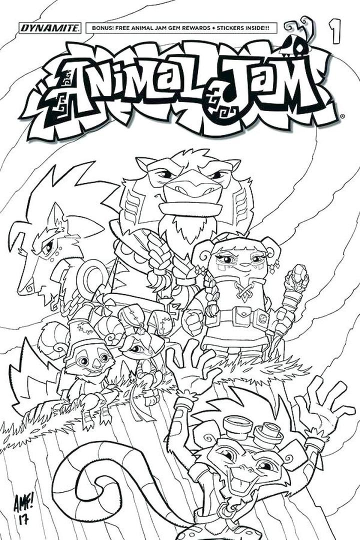 Animal Jam Coloring Pages for Kids 7fkd
