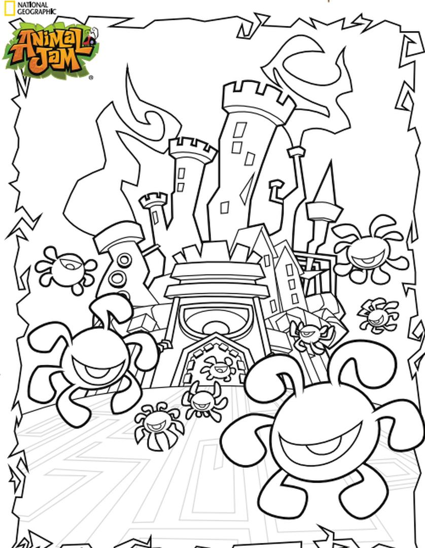 Castle Animal Jam Coloring Pages Printable 0cst