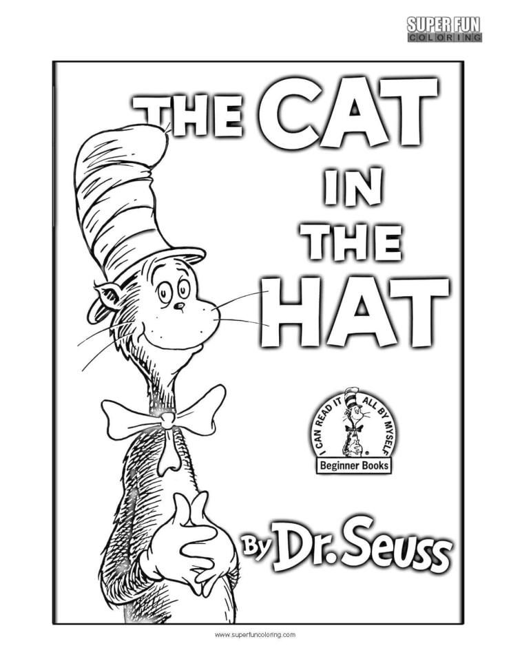 20 Free Printable Cat In The Hat Coloring Pages Everfreecoloring Com
