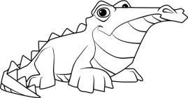 Crocodile Animal Jam Coloring Pages Free for Kids 6cro