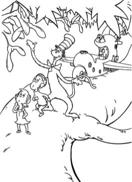 Dr. Seuss Cat In The Hat Coloring Pages Free Printable 6dsz