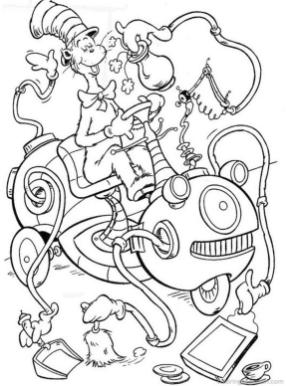 Dr. Seuss Cat In The Hat Coloring Pages Free Printable 8uyg