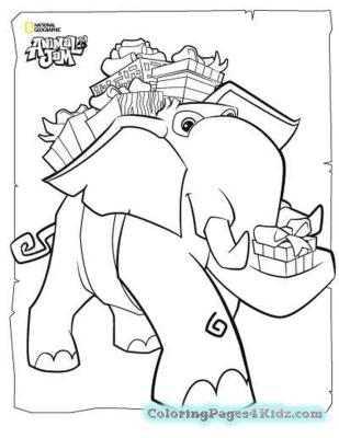 Elephant Animal Jam Coloring Pages to Print 1elp