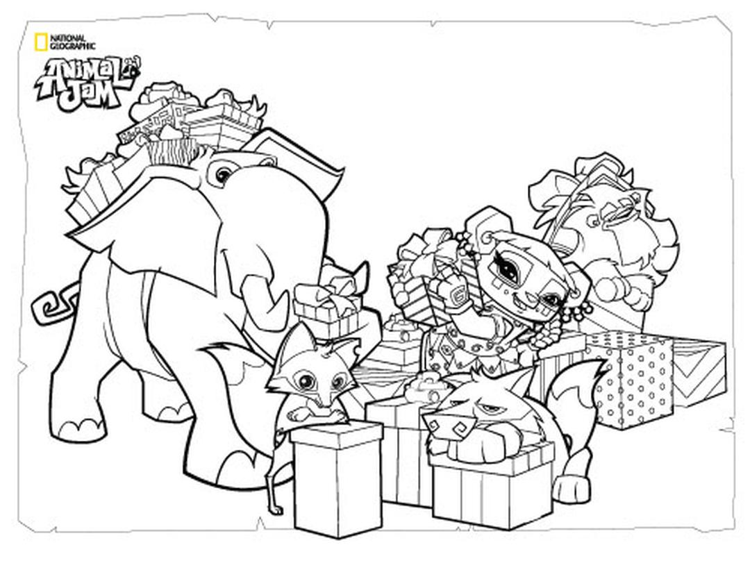 Gifts Animal Jam Coloring Pages Free 1gft