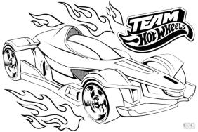 Hot Wheels Coloring Pages 1hto