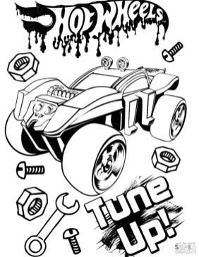 Hot Wheels Coloring Pages 2tun