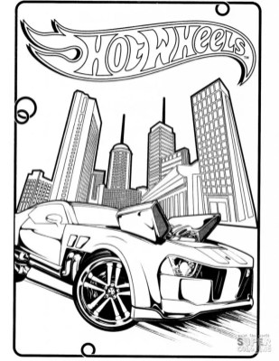Hot Wheels Coloring Pages 3pon