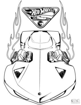 Hot Wheels Coloring Pages 6acc