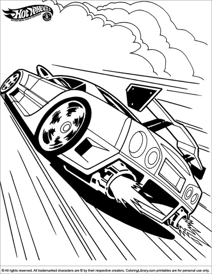 Hot Wheels Coloring Pages Free for Kids 7fls