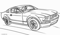 Hot Wheels Coloring Pages Free for Kids Mustang 4mtg