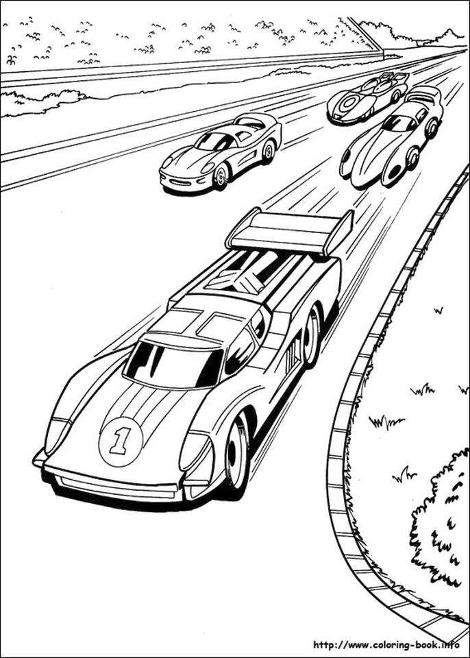 Hot Wheels Coloring Pages for Kids 7rce