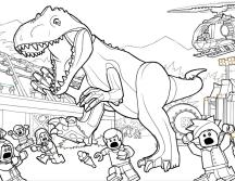 Jurassic World Coloring Pages Funny Lego T Rex 7ltr