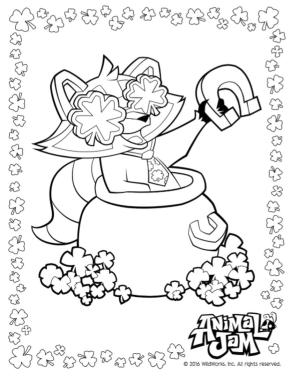 Lucky Day Animal Jam Coloring Pages Free 2lck