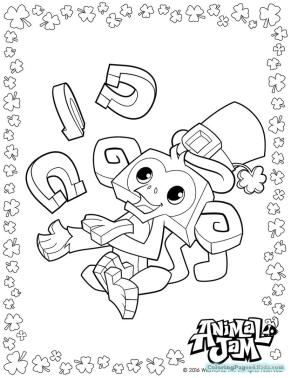 Monkey Animal Jam Coloring Pages Free Printable 6mky