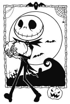 Nightmare Before Christmas Coloring Pages Free njm3