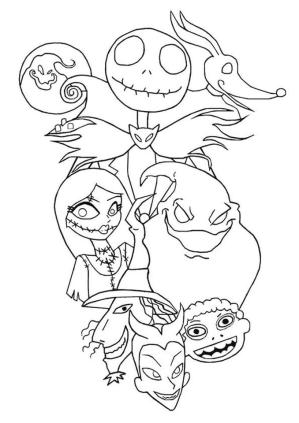 Nightmare Before Christmas Coloring Pages Halloween ijb8