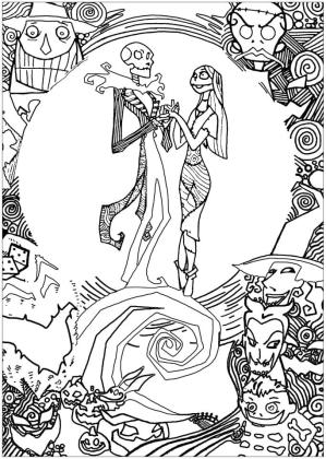 Nightmare Before Christmas Coloring Pages Hard 6poi
