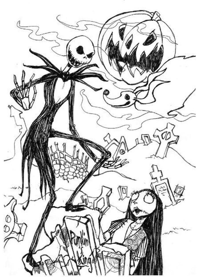 Nightmare Before Christmas Coloring Pages Hard 8rew