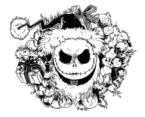 Nightmare Before Christmas Coloring Pages Hard 9mnb