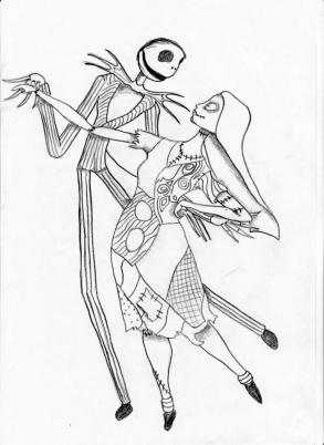 Nightmare Before Christmas Coloring Pages for Grown Ups 4rfv