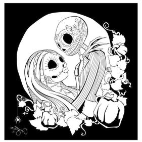Nightmare Before Christmas Coloring Pages jil2