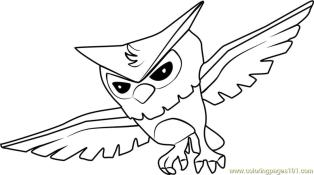 Owl Animal Jam Coloring Pages 4lwo