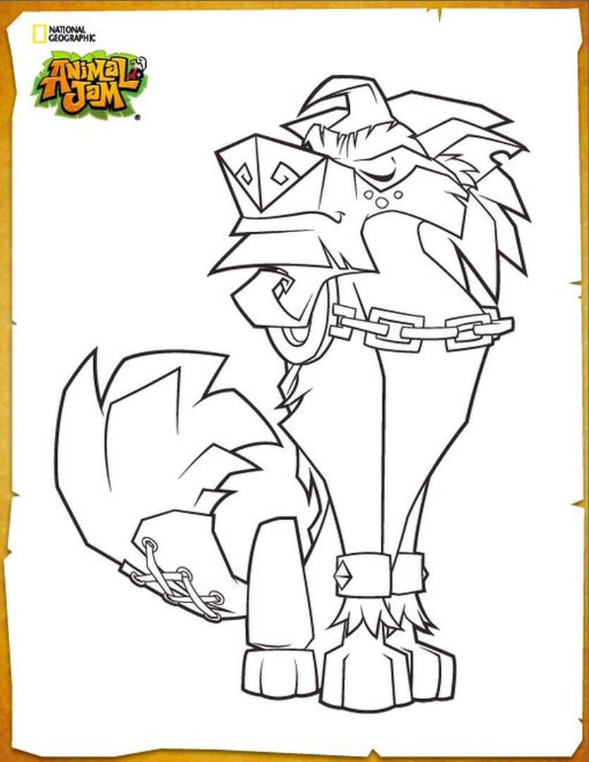 Proud Lion Animal Jam Coloring Pages Free for Kids 1prd
