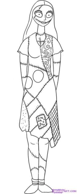 Sally Nightmare Before Christmas Coloring Pages to Print 2dfg