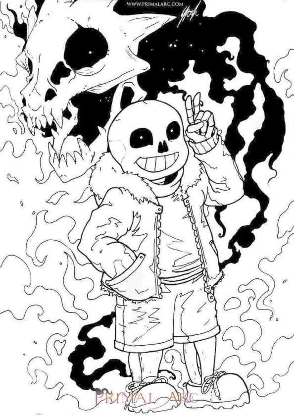 Undertale Coloring Pages Free drk4