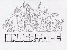 Undertale Coloring Pages Free udt2
