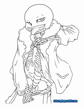 Undertale Coloring Pages Printable krt0