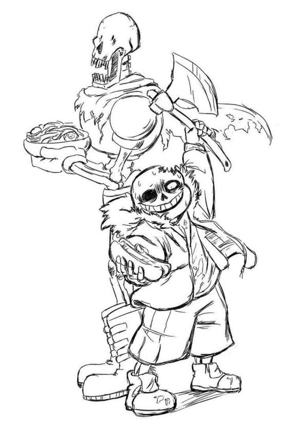 Undertale Coloring Pages for Kids scr7