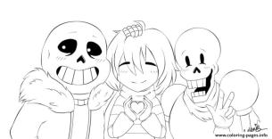 Undertale Coloring Pages to Print hpy7