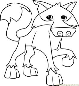 Wolf Animal Jam Coloring Pages 1wlf