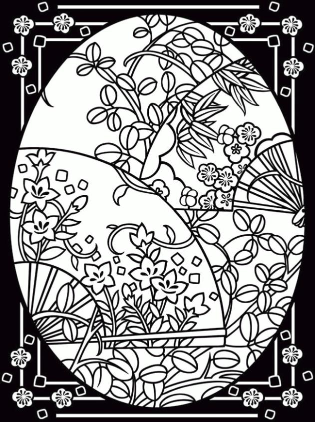 Adult Easter Coloring Pages Beautiful Floral Design on Easter Egg